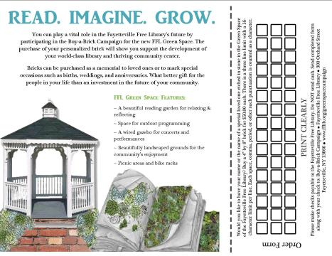 Inside the Green Space tri-fold brochure