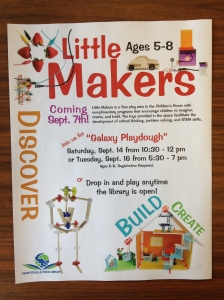 Promotional flyer for Little Makers.